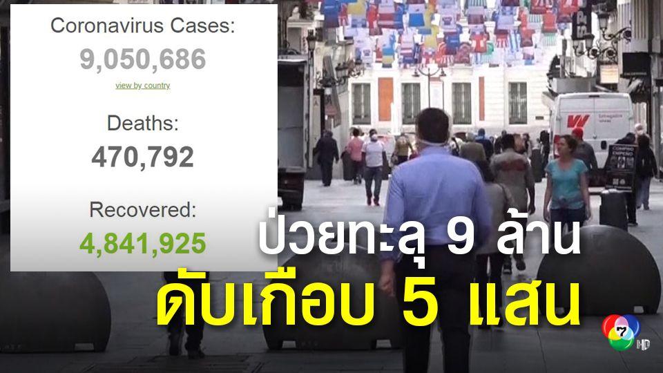 ยอดผู้ป่วยติดเชื้อโควิด-19 ทั่วโลก ทะลุ 9 ล้านคนอย่างรวดเร็ว