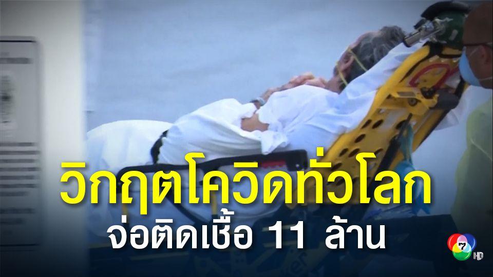ยอดผู้ป่วยติดเชื้อโควิด-19 ทั่วโลก ใกล้แตะ 11 ล้าน