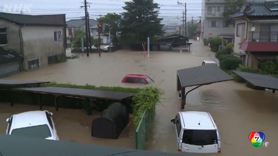 เกิดเหตุน้ำท่วมหนักในญี่ปุ่น หลังจากฝนตกหนักตลอดคืน