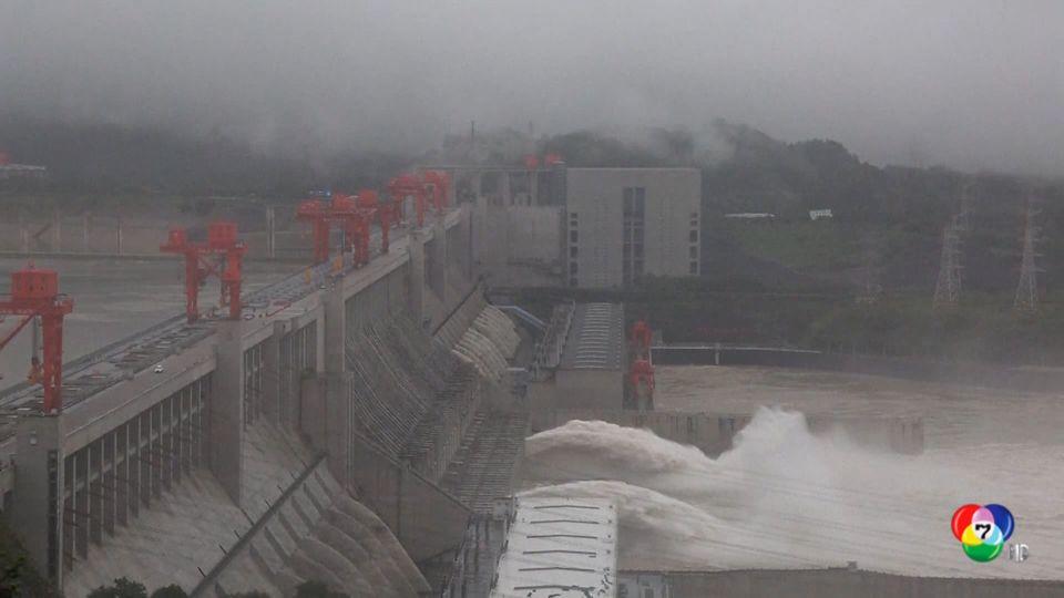 ทางการจีนเร่งระบายน้ำจากอ่างเก็บน้ำ แก้ปัญหาน้ำท่วม