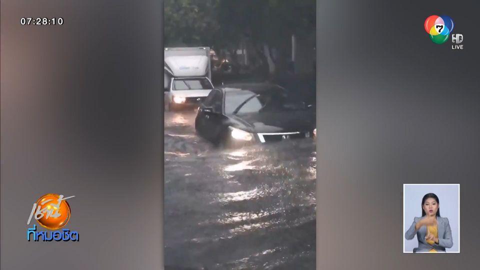 กรมอุตุฯ เตือนฝนตกทั่วไทย กรุงเทพฯ น้ำท่วมสูง-จราจรติดขัด