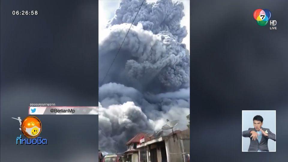 ระทึก ภูเขาไฟในอินโดฯ ปะทุ พ่นเถ้าถ่านขึ้นฟ้าสูง 5,000 เมตร เตือน ปชช.ระวังลาวา