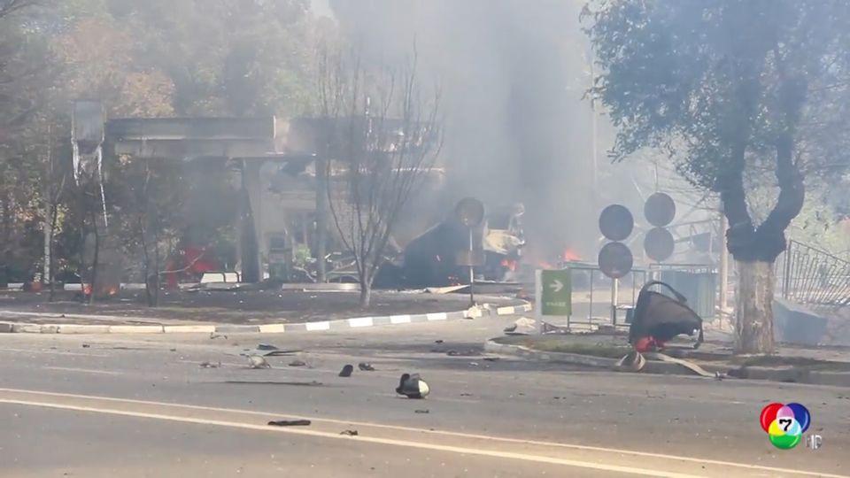 เกิดเหตุระเบิดรุนแรงที่ปั๊มน้ำมันในรัสเซีย มีผู้ได้รับบาดเจ็บหลายสิบคน