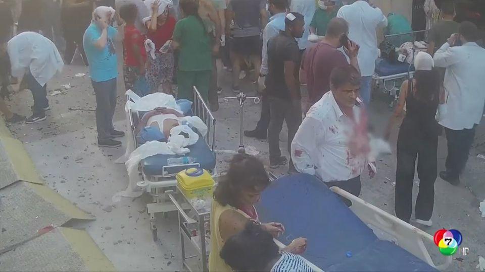 เผยภาพศูนย์การแพทย์จากเหตุการณ์ระเบิดท่าเรือเบรุต
