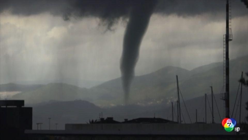 ระทึก! พายุงวงช้างพัดถล่มในอิตาลี