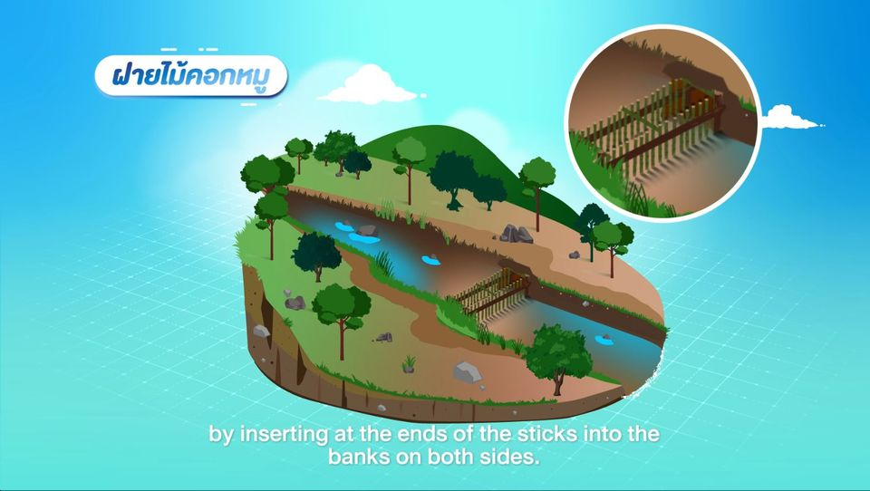 รู้อยู่กับน้ำ ตอนที่ 5 ฝายชะลอน้ำชั่วคราว ทำง่าย ได้ความชุ่มชื้น
