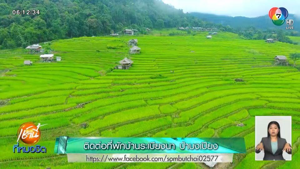 เช้านี้วิถีไทย : วิวนาขั้นบันได บ้านป่าบงเปียง เขียวขจี รับกรีนซีซัน สัมผัสวิถีชาวปกาเกอะญอ