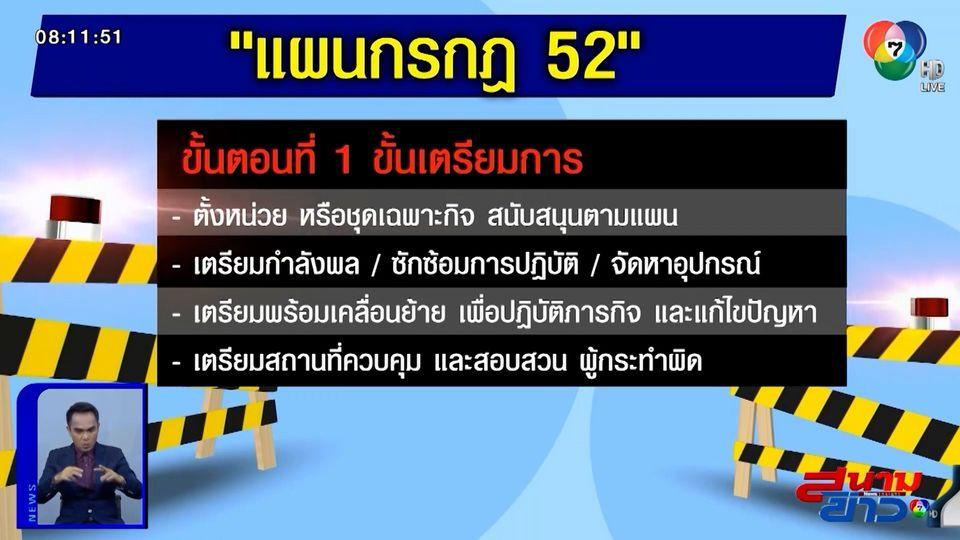 ผบช.น สั่งใช้แผนกรกฎ 52 ดูแลผู้ชุมนุม