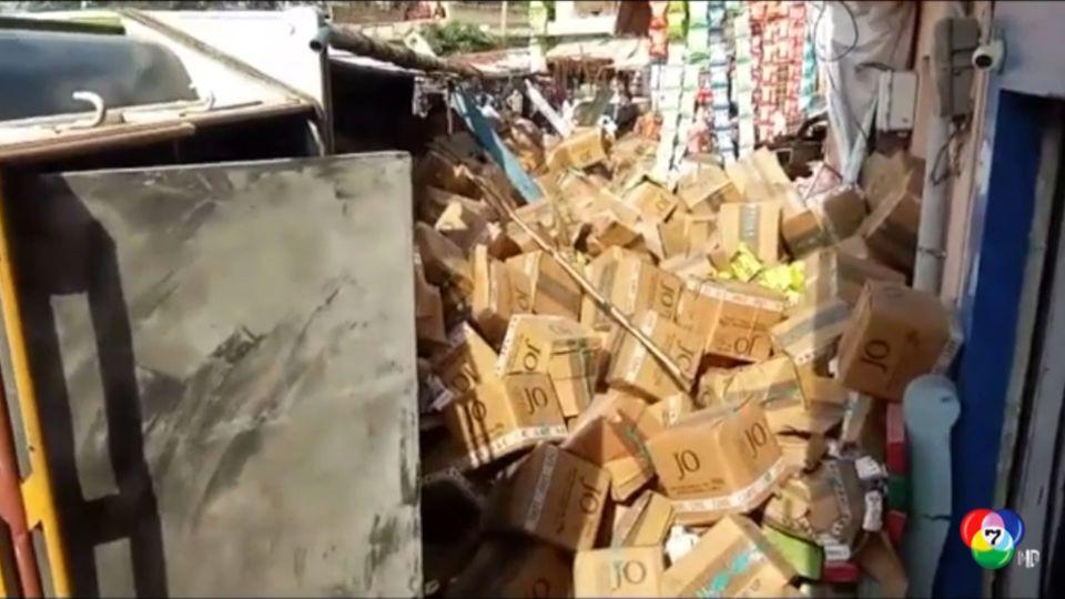 รถบรรทุกพลิกคว่ำใส่ฝูงชนในอินเดีย
