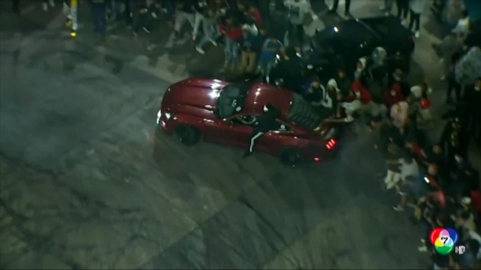 นักดริฟต์รถพุ่งชนคนดูบาดเจ็บในสหรัฐฯ