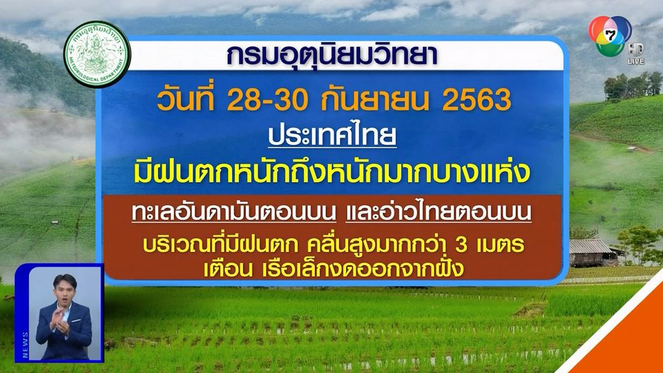 ฝนฟ้าอากาศ 28 ก.ย.63