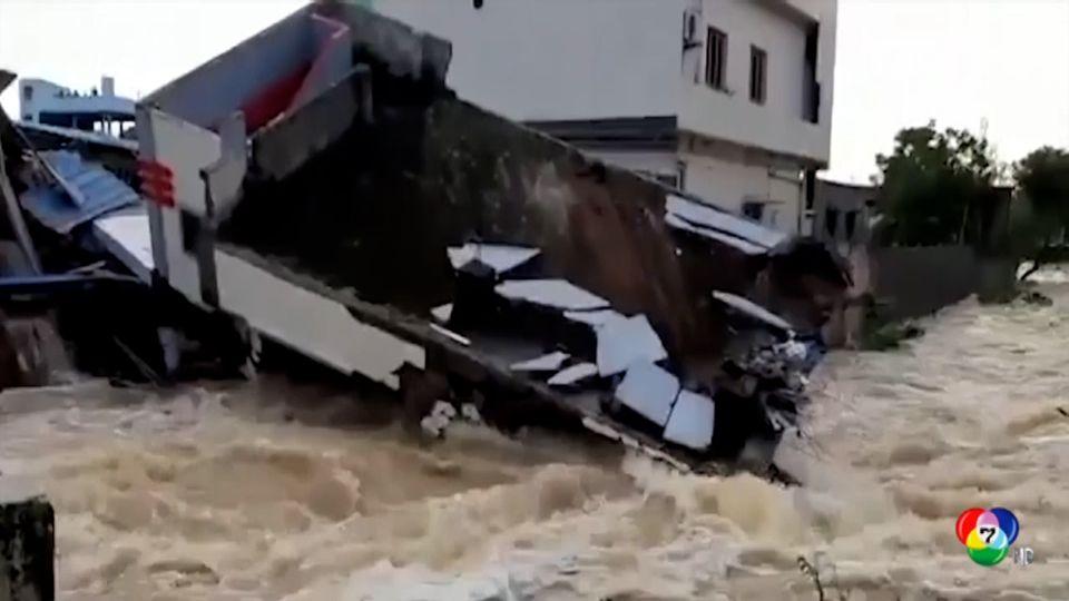 ฝนตกหนักที่อินเดีย เสียชีวิตแล้ว 15 คน
