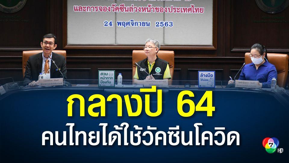 สธ.เผยข่าวดี กลางปี 64 คนไทยได้ใช้วัคซีนโควิด จองซื้อ 26 ล้านโดส