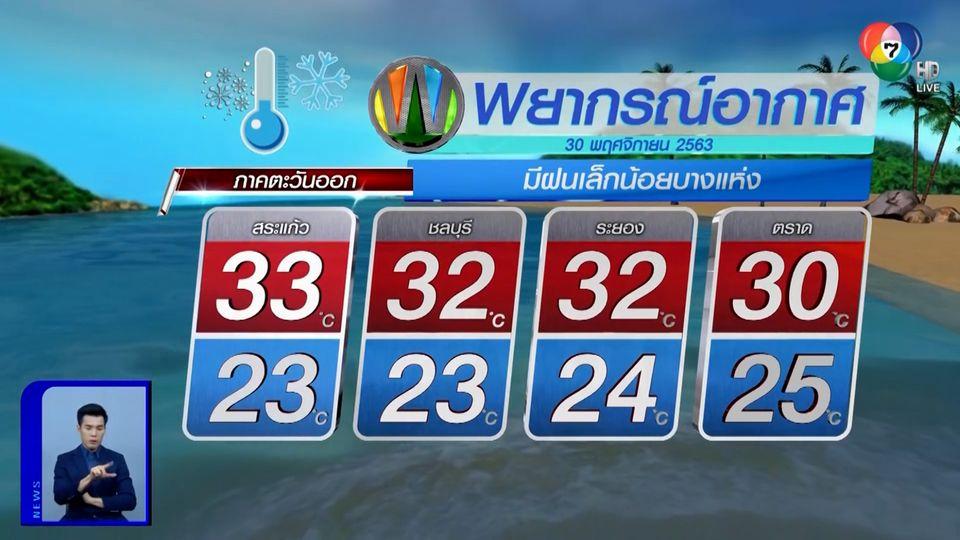 ฝนฟ้าอากาศ 29 พ.ย.63