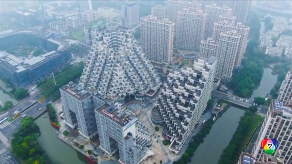 เผยภาพที่พักอาศัยรูปคล้ายพีระมิดในจีน
