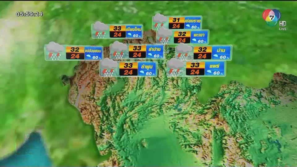 พยากรณ์อากาศวันนี้ 10 กันยายน 2563
