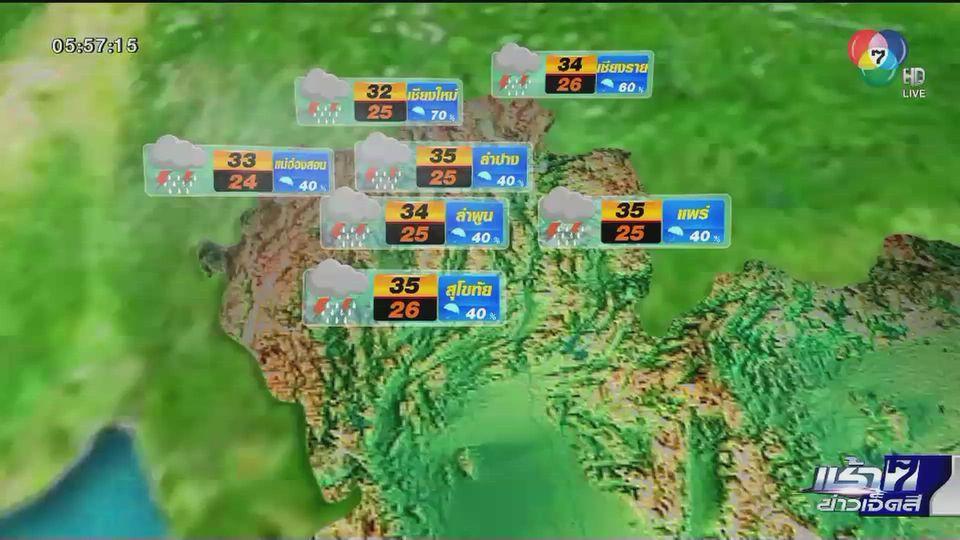 พยากรณ์อากาศวันนี้ 1 กันยายน 2563