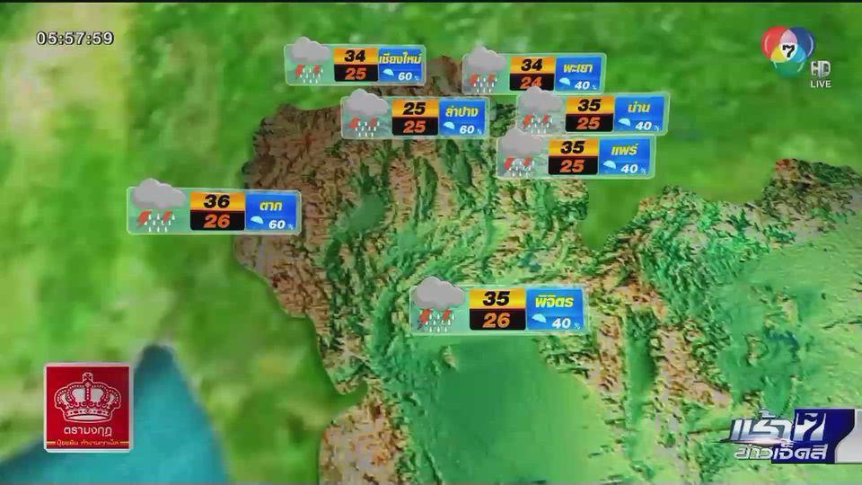 พยากรณ์อากาศวันนี้ 29 มิถุนายน 2563