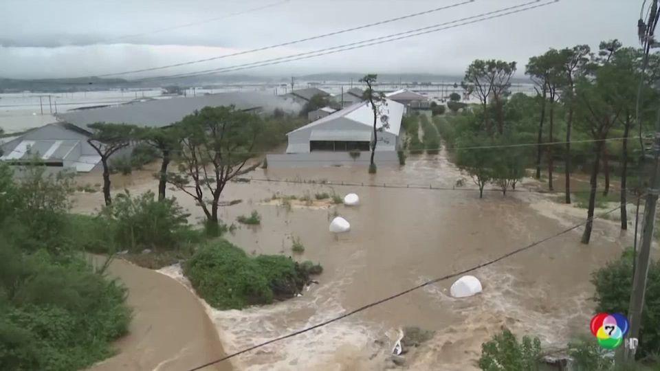 พายุไต้ฝุ่นซังมี ถล่มซ้ำเกาหลีใต้ หลังน้ำท่วมหนัก