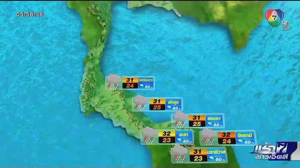 พยากรณ์อากาศวันนี้ 19 พฤศจิกายน 2563