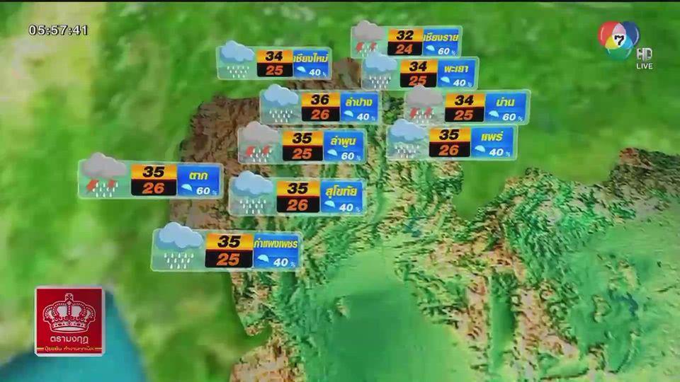 พยากรณ์อากาศวันนี้ 11 สิงหาคม 2563