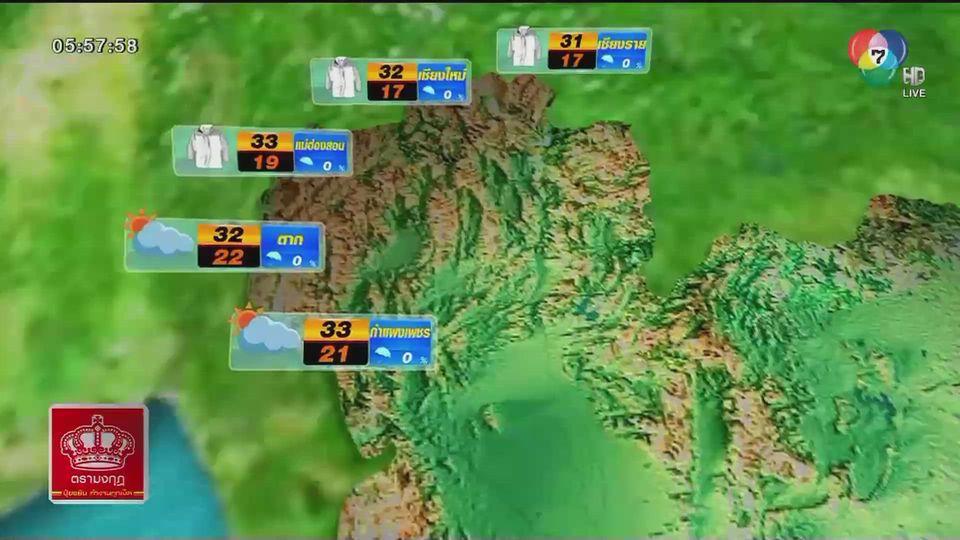 พยากรณ์อากาศวันนี้ 11 พฤศจิกายน 2563