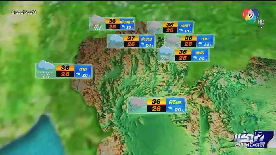 พยากรณ์อากาศวันนี้ 23 มิ.ย.63 ทั่วทุกภูมิภาคของไทย ยังคงมีฝน