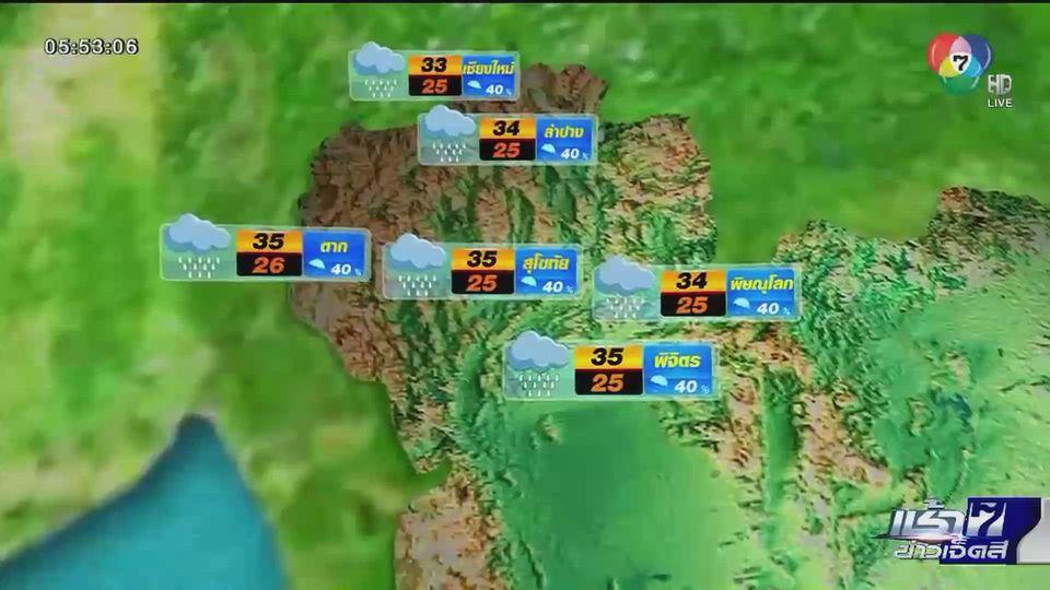 พยากรณ์อากาศวันนี้ 29 กรกฎาคม 2563