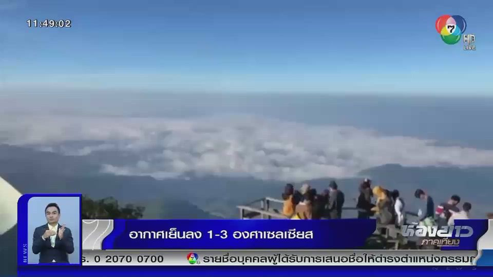 มวลอากาศเย็นแผ่ปกคลุมไทยตอนบน อากาศเย็นลง 1-3 องศาฯ
