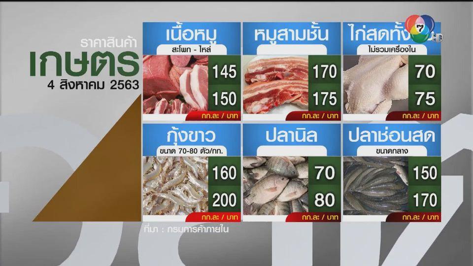 ราคาสินค้าเกษตรที่สำคัญ 4 ส.ค. 2563