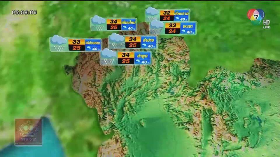 พยากรณ์อากาศวันนี้ 30 กรกฎาคม 2563
