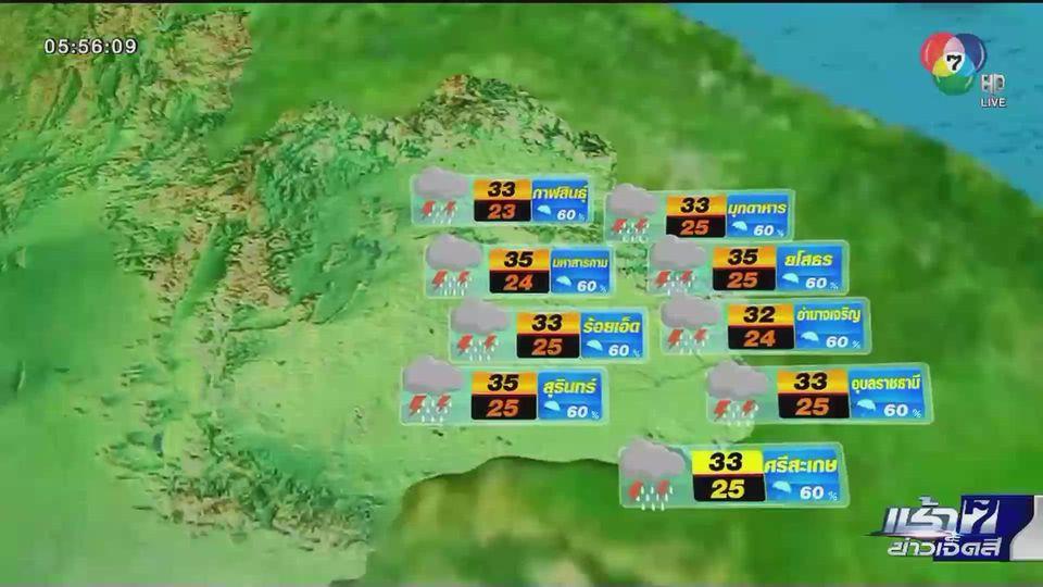 พยากรณ์อากาศวันนี้ 3 กรกฎาคม 2563