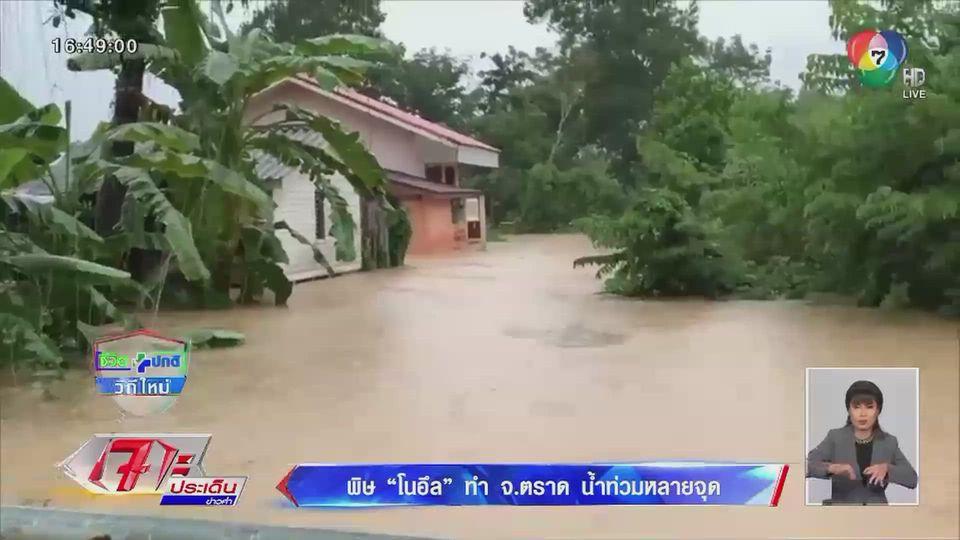 พิษพายุโนอึล ทำ จ.ตราด น้ำท่วมหลายจุด