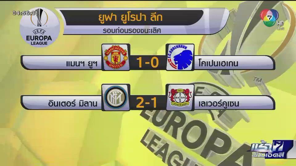 แมนยูฯ-อินเตอร์ มิลาน เข้ารอบรองชนะเลิศ ยูฟ่า ยูโรปา ลีก
