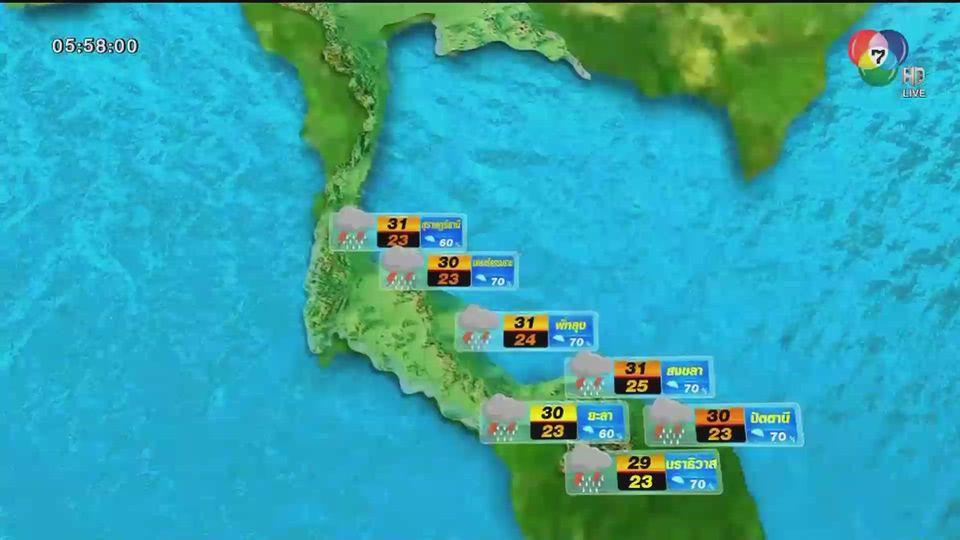 พยากรณ์อากาศวันนี้ 23 พฤศจิกายน 2563