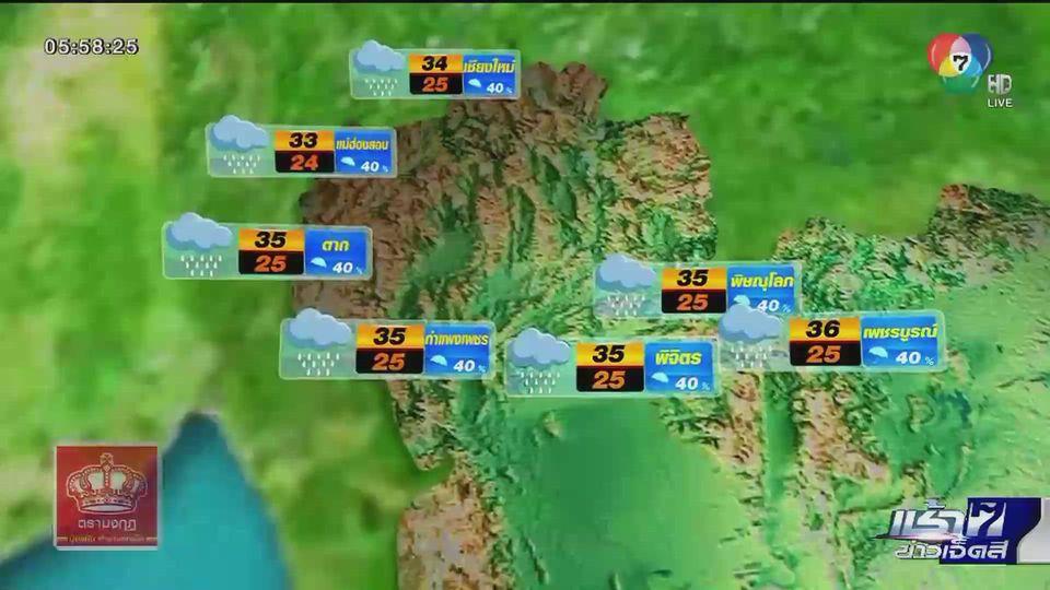 พยากรณ์อากาศวันนี้ 23 กรกฎาคม 2563