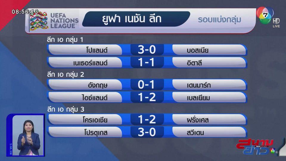 อังกฤษ พลาดท่าแพ้ เดนมาร์ก 0-1 ศึกยูฟา เนชันส์ ลีก รอบแบ่งกลุ่ม