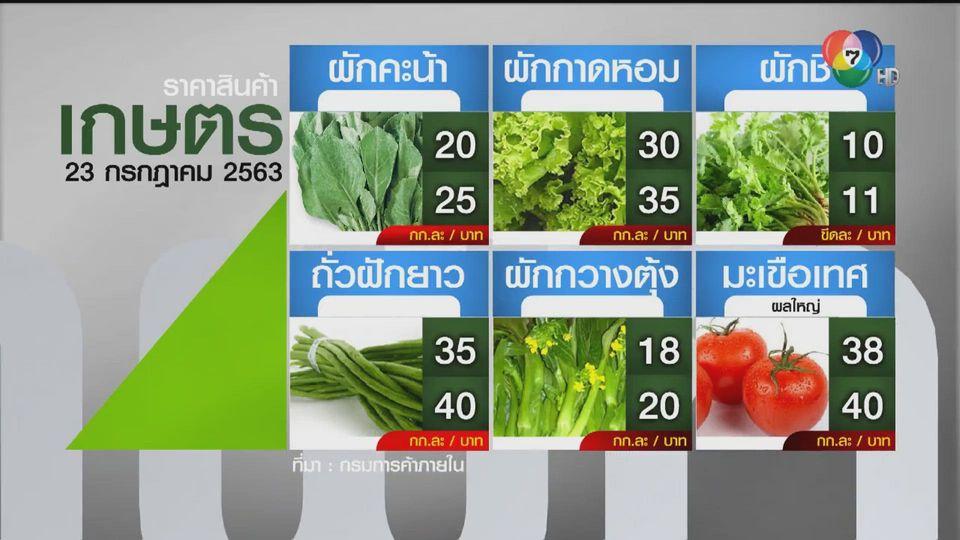 ราคาสินค้าเกษตรที่สำคัญ 23 ก.ค. 2563