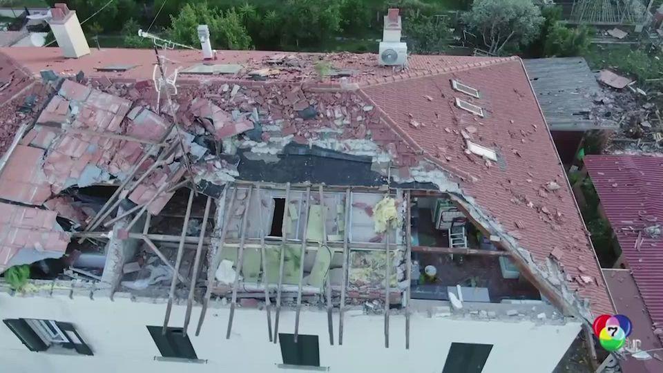 เกิดลมกรดพัดถล่มทางตอนกลางของอิตาลี บ้านเรือนเสียหาย-ต้นไม้หักโค่น เจ็บแล้ว 3 คน