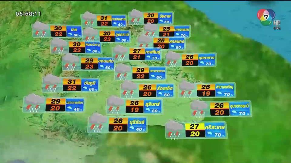 พยากรณ์อากาศวันนี้ 28 ตุลาคม 2563