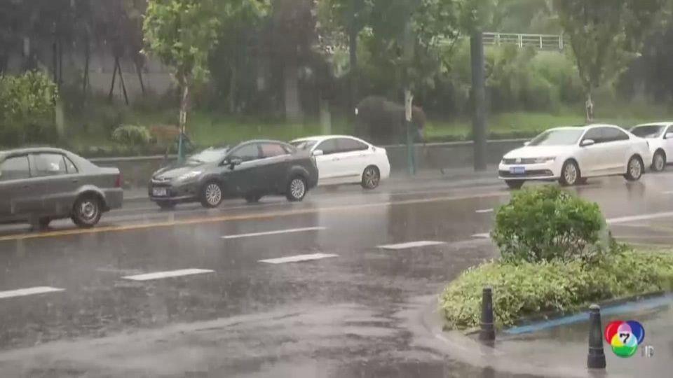 พายุฝนทำ อู่ฮั่น น้ำท่วมถนนหลายสายหนัก เจ้าหน้าที่ระดมกำลังเร่งระบายน้ำ