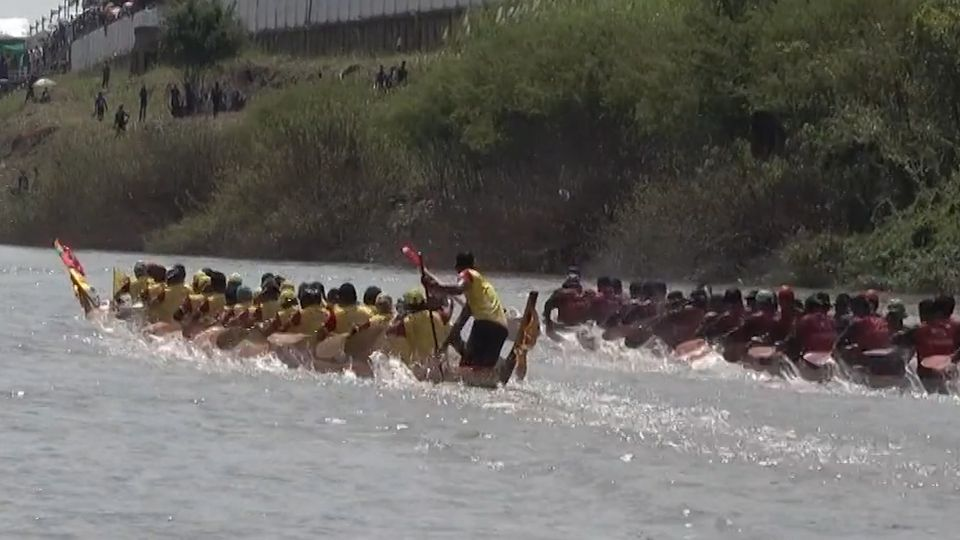 สีสันพิธีเปิดการแข่งขันเรือยาว ชิงถ้วยพระราชทาน จ.สิงห์บุรี