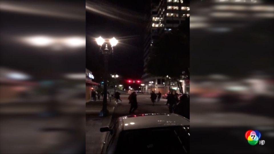 ชายขับรถชนผู้ประท้วงในสหรัฐฯ บาดเจ็บ 3 คน