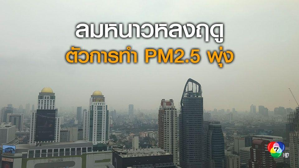 กรมควบคุมมลพิษแจง PM2.5 ช่วงนี้เกิดจากลมหนาวหลงฤดู