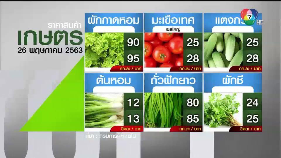 ราคาสินค้าเกษตรที่สำคัญ 26 พ.ค. 2563