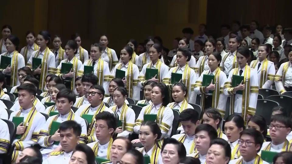 สมเด็จพระกนิษฐาธิราชเจ้า กรมสมเด็จพระเทพรัตนราชสุดาฯ สยามบรมราชกุมารี พระราชทานปริญญาบัตรแก่ผู้สำเร็จการศึกษาจากมหาวิทยาลัยนวมินทราธิราช ประจำปีการศึกษา 2561