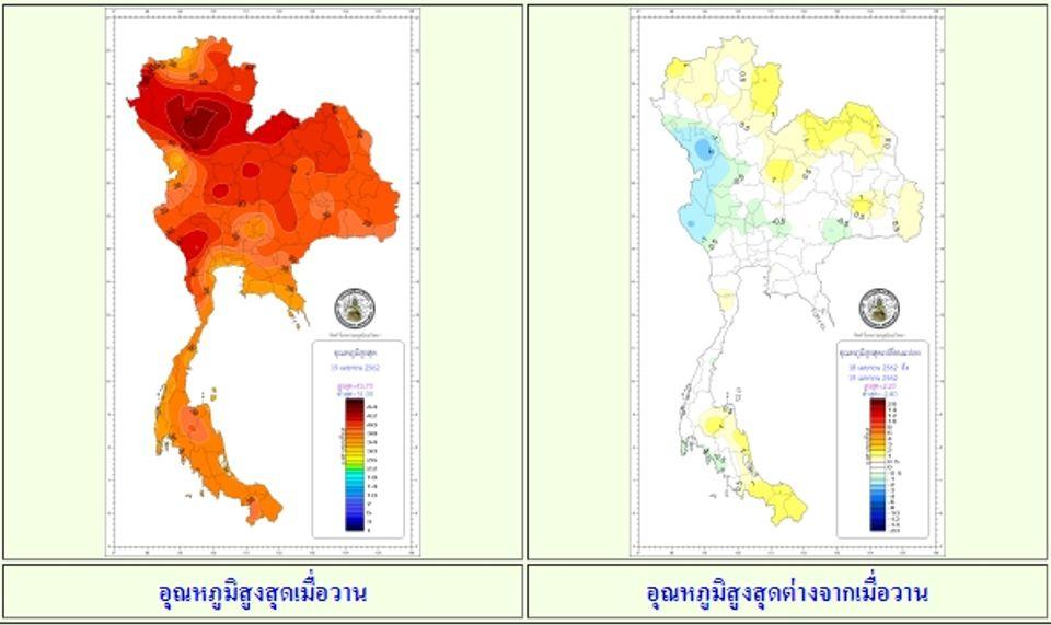 ร้อนกว่าเมื่อวานอุตุฯเผยไทยตอนบนอากาศร้อนจัด