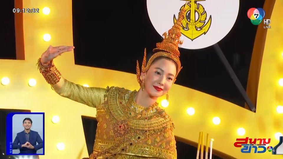 งามอย่างไทย! นุ่น วรนุช สวมชุดไทยเป็นนางนพมาศ ร่วมงานลอยกระทง : สนามข่าวบันเทิง