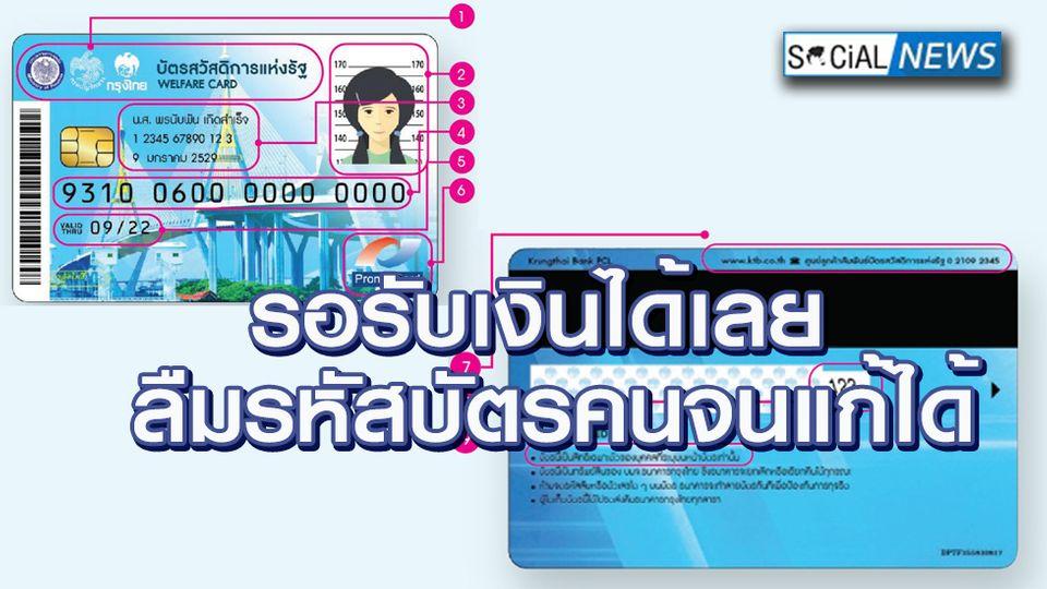 ผู้ถือบัตรคนจนได้เงินเยียวยารวม 3000 บาท ใครลืมรหัสบัตรสวัสดิการแห่งรัฐ แก้ไขได้!!