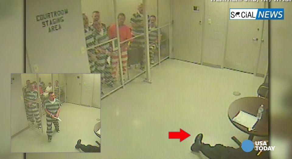 เปิดนาทีประทับใจ! นักโทษ 8 คน แหกคุกช่วยชีวิตผู้คุมหัวใจวาย จนรอดชีวิต